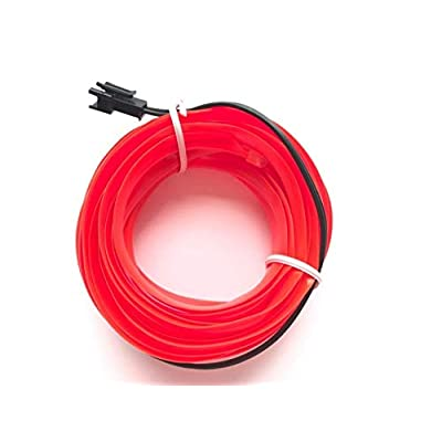 KOJOTON USB Neon LED Light Rope Lights Glowing Electroluminescent Wire El Wire for Automotive Interior Car Cosplay Decoration (3m/9ft, Red): Garden & Outdoor