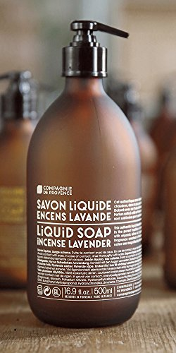 Liquid Marseille Soap Incense Lavender 16.9oz Glass Bottle