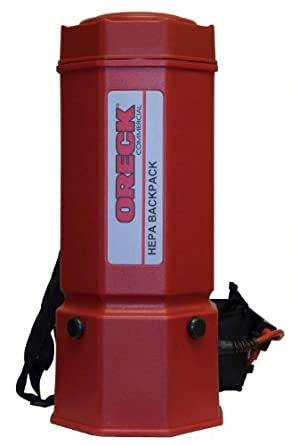 """Oreck Commercial OR1006 Premier HEPA Backpack Vacuum, 1175W, 22"""" Height, 6 qt Capacity, Red"""