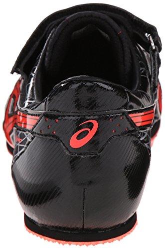 Asics Mens Long Jump Pro Track Nero / Flash Corallo / Argento