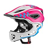 Adjustable Kids Cycling Multi-Sport Safety Bike Skating Scooter Helmet for 3 to 8 Years Old Girls/Boys(S:48-53CM, M53-58CM) (Color : Pink)