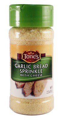 Tone's Garlic Bread Sprinkle With Cheese, 2.12 oz.(Pack of (Cheese Garlic)