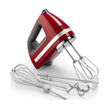 Kitchenaid 9 Speed Hand Mixer Includes Bonus Dough Hooks Whisk Milk Shake Liquid Blender Rod Attachment And Accessory Bag