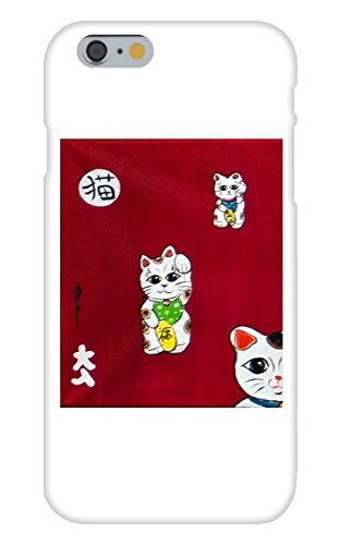 Obama Phone Costume (Lucky Cat Mural Yuya Negishi YUYART - Apple iPhone 6 Custom Case White Plastic Snap On)