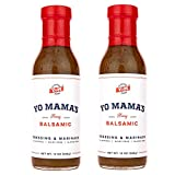 Yo Mama's Foods Gourmet and All-Natural Honey Balsamic Vinaigrette Salad Dressing and Marinade – Low Sugar, Low Carb, Low Sodium, Dairy-Free, and Gluten-Free!