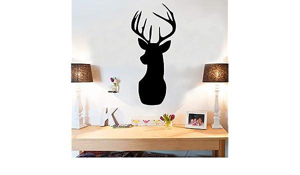 Deer Head Cartoon Pizarra DIY Pegatinas de Pared Para ...