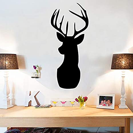 Deer Head Cartoon Pizarra DIY Pegatinas de Pared Para Habitaciones ...