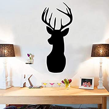 Deer Head Cartoon Pizarra DIY Pegatinas de Pared Para ...