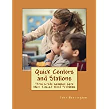 Quick Centers and Stations: Thrid Grade Common Core Math 3.oa.a.3 Word Problems