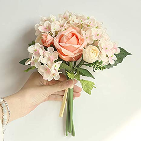 Amazon Com Keebgyy Artificial Roses Bouquet Real Looking