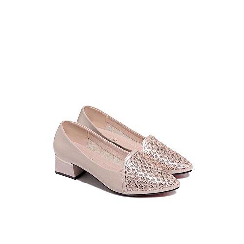 tamaño Baotou tacón Color Mujer Hilo de Crudo Zapatos de 37 Zapatos Oro Sandalias 2018 con netas de Las de Mujeres Verano Verano RqqwpUz