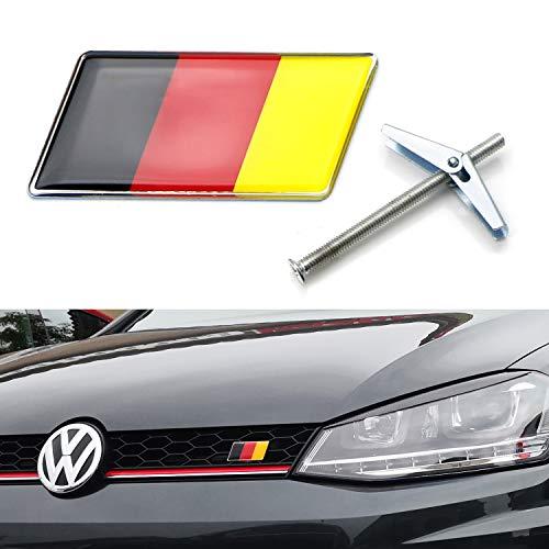iJDMTOY Germany Flag Emblem Badge w/Grille/Mesh Mount Toggle Bolt Anchor For Audi BMW Mercedes MINI Smart Porsche Volkswagen, etc