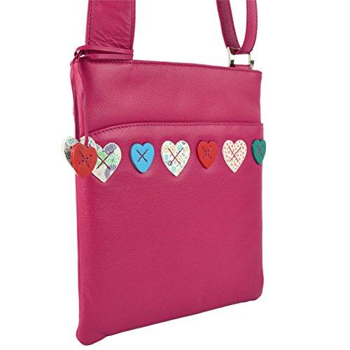 Mala Leather - Bolso cruzados para mujer rosa - rosa