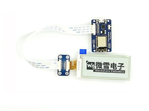 296x128 Resolution 2.9 Inch E-Paper Display Panel Module E-ink Electronic Screen SPI interface with ESP8266 WIFI Driver Board Support Partial Refresh for Raspberry Pi/Arduino/Nucleo by waveshare