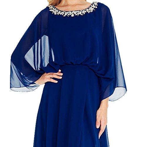 Abendkleider Ballkleider Chiffon Promkleider 2018 Damen Kleider Langarm Brautmutterkleider Langes Charmant Neu SFqwnB