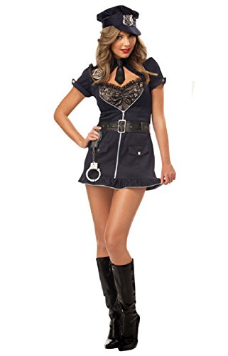 Ladies German Costume Officer (Sexy Candy Cop Police Officer Adult Halloween)