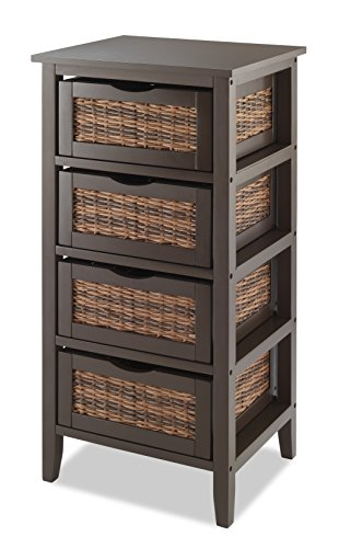 Whitmor BAHAMA 4-Drawer Storage Organizer, Espresso