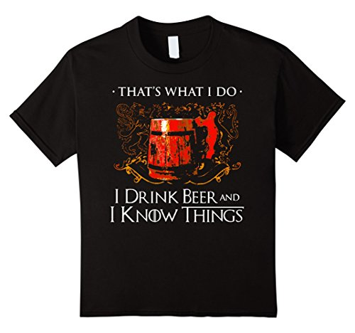 drink beer know things shirt