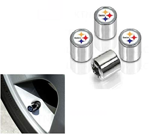 Pittsburgh Steelers Valve Stem Caps 4-Pack ()