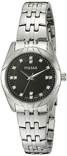 Pulsar Women's 'Dress Sport' Quartz Stainless Steel Dress Watch (Model: PH8143)