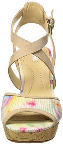 Geox D Heritage A - Sandalias para mujer Varios Colores - Mehrfarbig (LT TAUPE/MULTICOLORCH60G)