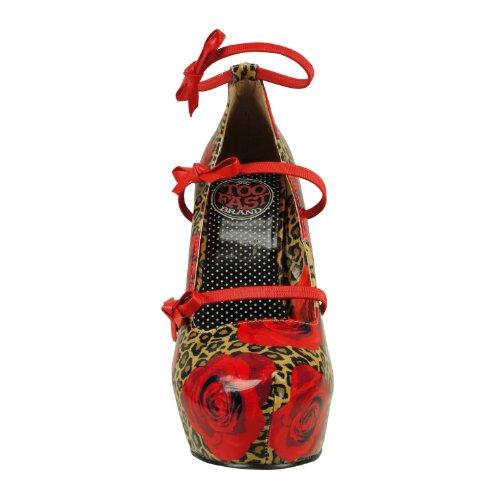 Too Fast Brand - Zapatos de vestir de sintético para mujer rojo - rojo