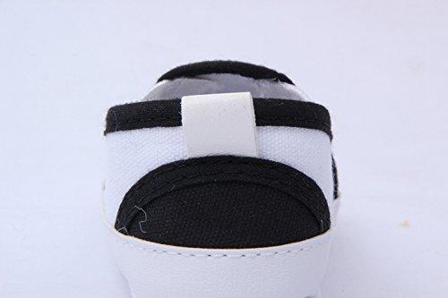YICHUN Prewalker zapatos de bebé suave ocio zapatos calavera zapatos de cuna de bebé zapatos de suela azul azul Talla:Sole Length:12cm/4.7 inches negro
