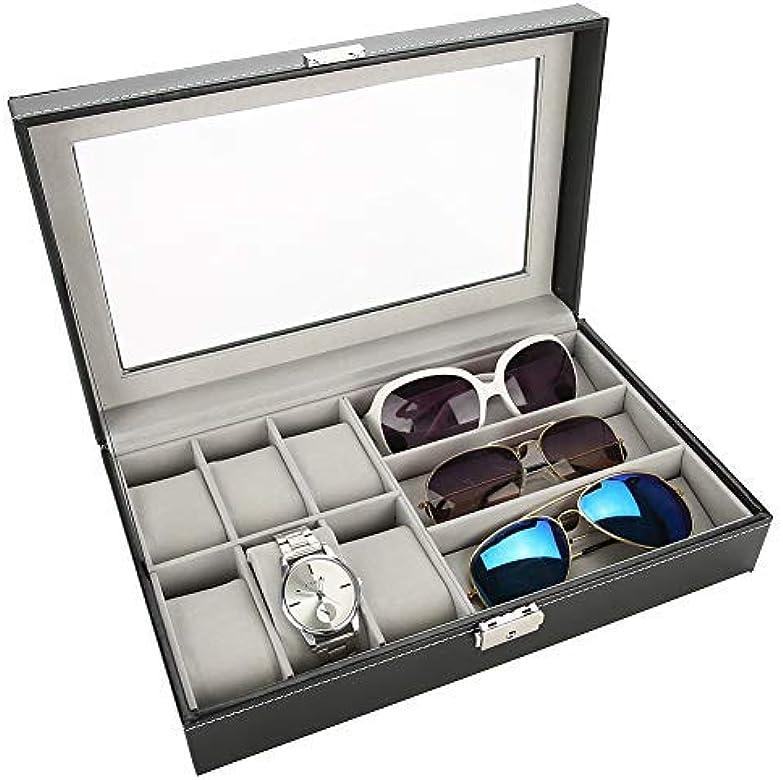 Betued Caja de Almacenamiento para Gafas de Sol, 9+3 Joyero Organizador Reloj Almacenamiento, Estuche Organizador para colector de Viaje Gafas de Sol y Estuche para presentación de Relojes: Amazon.es: Joyería