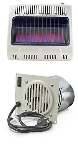 Mr. Heater 30,000 BTU Vent Free Blue Flame Natural Gas Heater+mr Heater Fan (Natural Gas Heaters Vent Free compare prices)