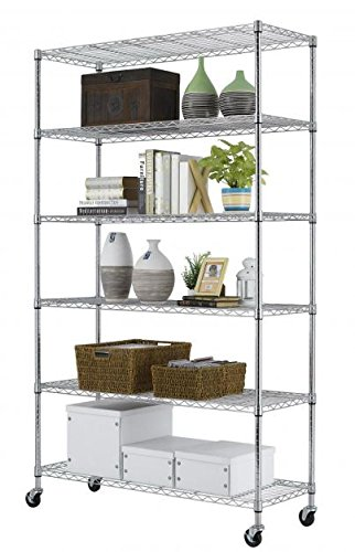 "Amazon.com: Produit Royal 82""×48""×18""Steel Metal Shelf New 6 Wire ..."