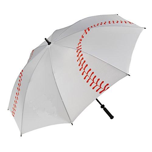 "Team Storm Shelter - Haas-Jordan Pro-LineGolf Umbrella | 62"" Large Windproof Canopy | Full Flexible Fiberglass Construction, Lightweight & Waterproof | Oversized Umbrellas | Baseball"
