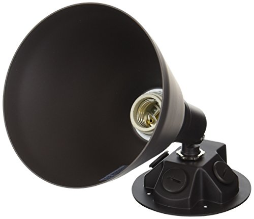 Progress Lighting P5202-20 Painted Adjustable Swivel Floodlight All Aluminum, Antique Bronze (20 Par Lampholder)