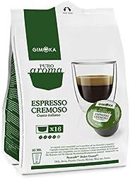 Cápsulas De Café Espresso Cremoso Gimoka, Compatível com Dolce Gusto, Contém 16 Cápsulas