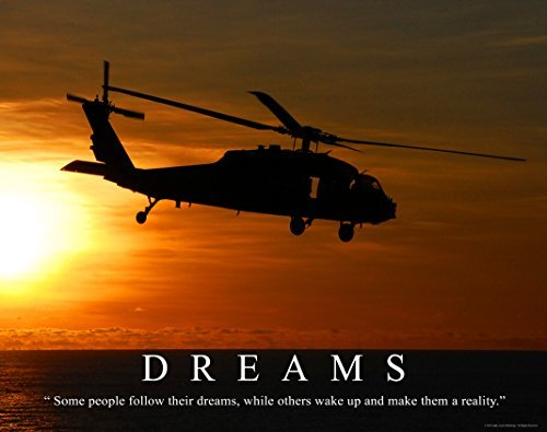 Military Helicopter Motivational Poster Art Print 11x14 US Army Marines Airborne Infantry Soldier Sniper Tanks