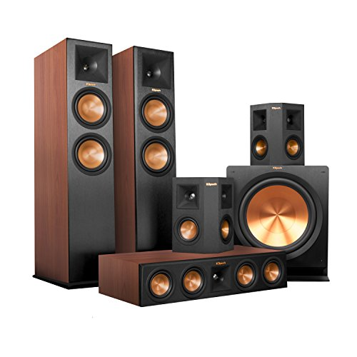 Best savings for Klipsch RP-280FA Home Theater System Bundle (Walnut with Black Surrounds and Subwoofer) with Yamaha RX-A2050