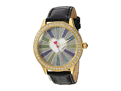 Betsey Johnson Womens BJ00131-115 - Spread Love Gold/Black One Size (Betsey Johnson Watch Bracelet)