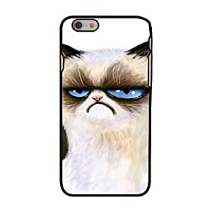 MOM Unhappy Cat Style Plastic Hard Back Cover for iPhone 6