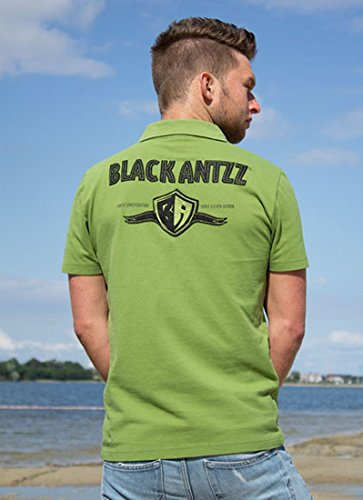 Cooles BLACK ANTZZ Polo-Shirt POLO ONE in Oliv mit Schriftzug und Emblem