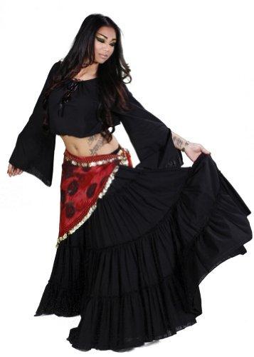Miss para danza del vientre Danza del Vientre 25 Yard falda, Top y cadera de