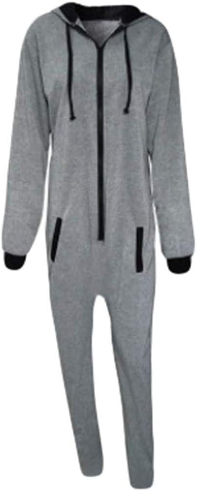 TALLA XL. NiSengs Pijama de Una Pieza Mono Onesie Jumpsuit con Capucha para Hombre o Mujer Unisexo Pijamas Onepiece