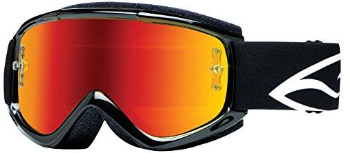 Smith Optics Fuel v.1 Max M Motocross Goggles (Black Frame/Red Mirror Lens) ()