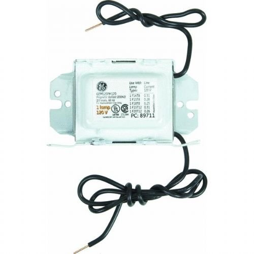 GE Lighting 68186 GEM120PH120DIY LFL Magnetic Rapid Start Ballast for 1- F20T12, F15T8, F1512 - 120V Magnetic Ballast (200H2) ()