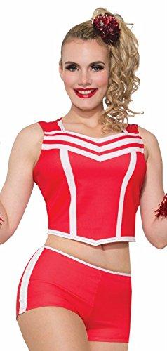 Forum Novelties Party Supplies 78266 Adult Cheerleader Booty Shorts, Red, Standard ()