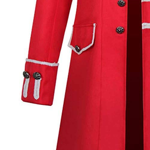 Rouge Manteau Steampunk Costume Manteaux De Sunnyuk Uniforme Boutonnage Cérémonie Gothique Veste Homme Double Fête En Mariage Outwear aqSppwI0x