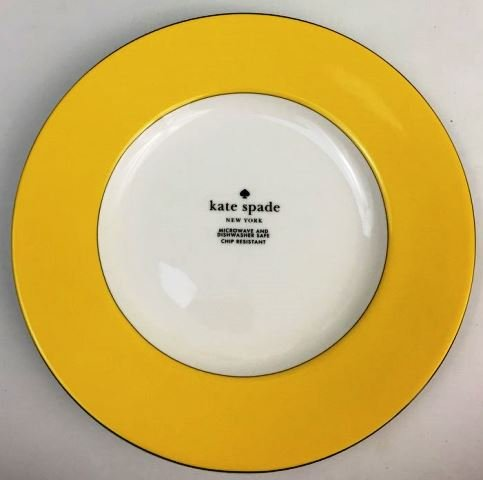 Lenox Rutherford Circle YELLOW Accent Plate 9.2 inch (Kate Spade Summer Circle)