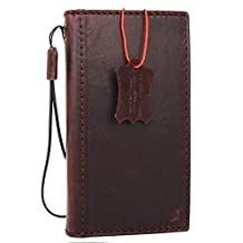 Genuine real Leather Case for apple Iphone 7 Plus Book Wallet cover Handmade Retro Luxury slim cover brown cards slots thin daviscase