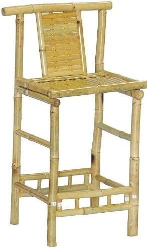 Bamboo Remarkable Rustic Bar Stool w Footrest – Set of 2