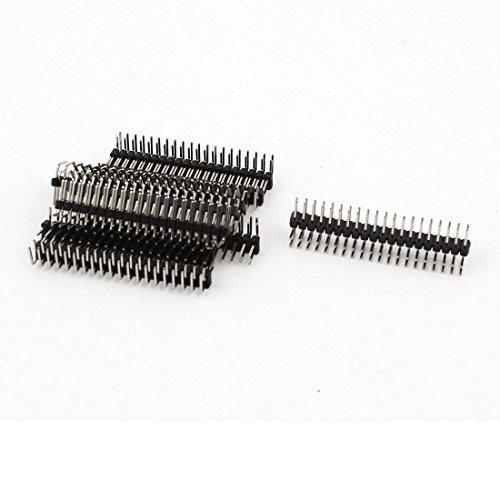 10PCS 2.54mm 2 x 20-pin Male Double Row Right Angle Pin Header Strip (Row Header)