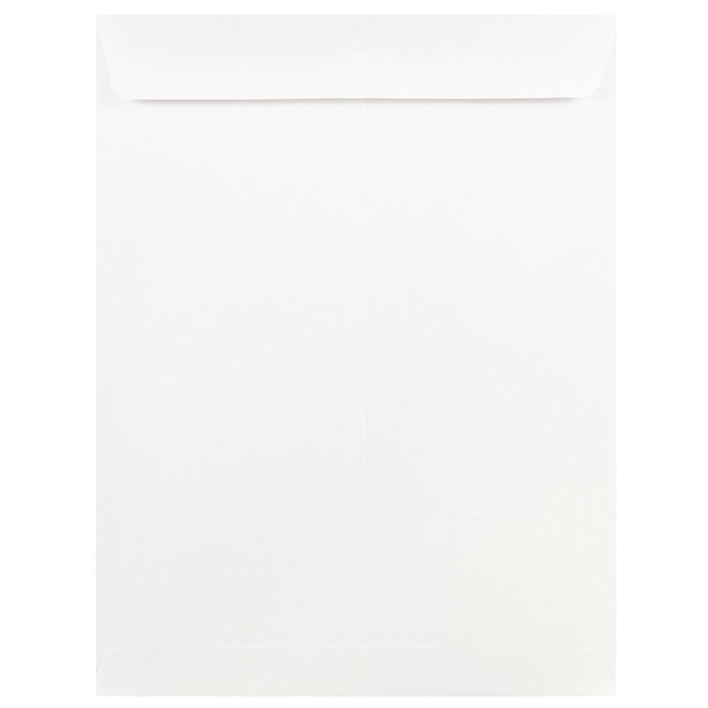 JAM Paper Open End Catalog Envelopes with Gum Closure - 254 x 330.2 mm (10 x 13) - White - 25/pack 1623199