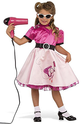 Rubie's Costume Child's 50's Beauty School Girl Costume, Medium, Multicolor